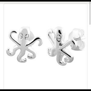 Sterling Silver Octopus Earrings